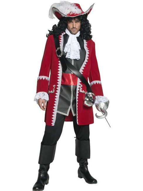 "Authentic Pirate Captain Costume, Chest 38""-40"", Leg Inseam 32.75"""