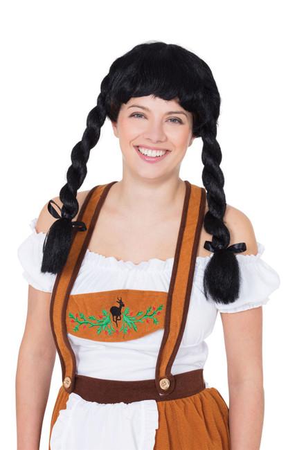 Fraulein Pigtail Wig Black