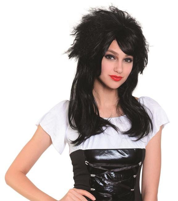 Ladies Wig Long Black