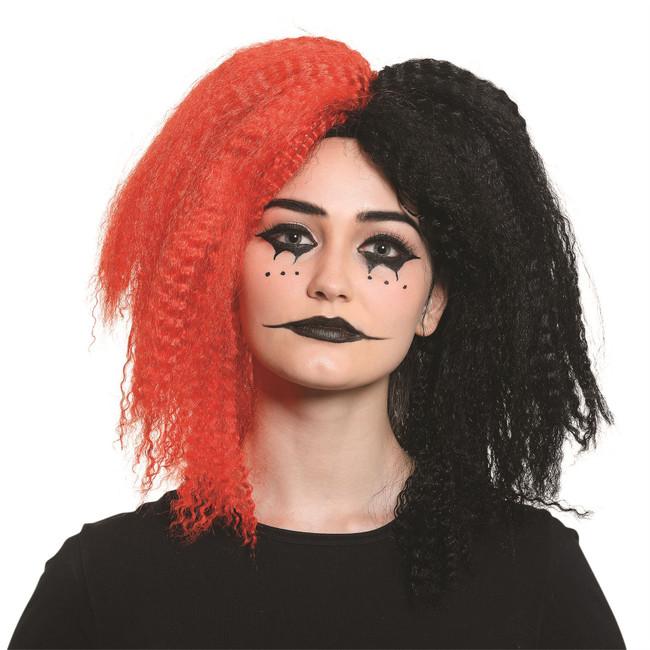 Crazy Girl Wig Red/Black