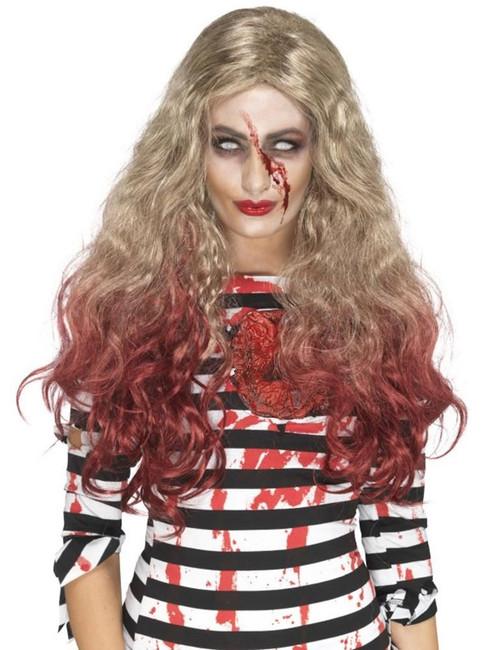 Deluxe Zombie Blood Drip Wig, Halloween Zombie Alley Fancy Dress. One Size
