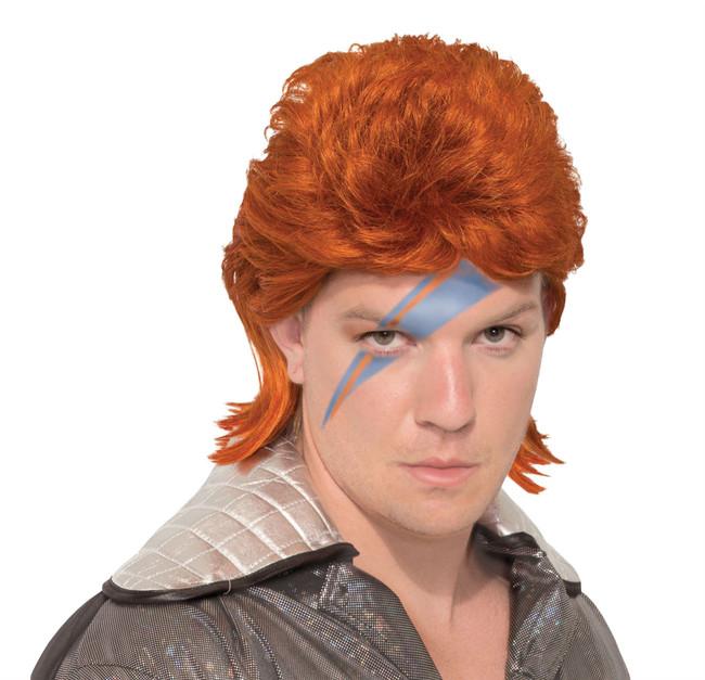 70s Rock Legend Wig (Orange)