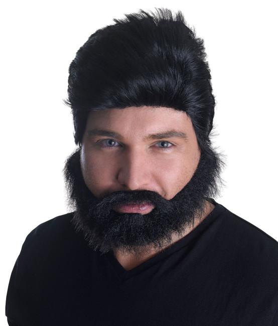 Euro Pop Star Wig + Beard Set