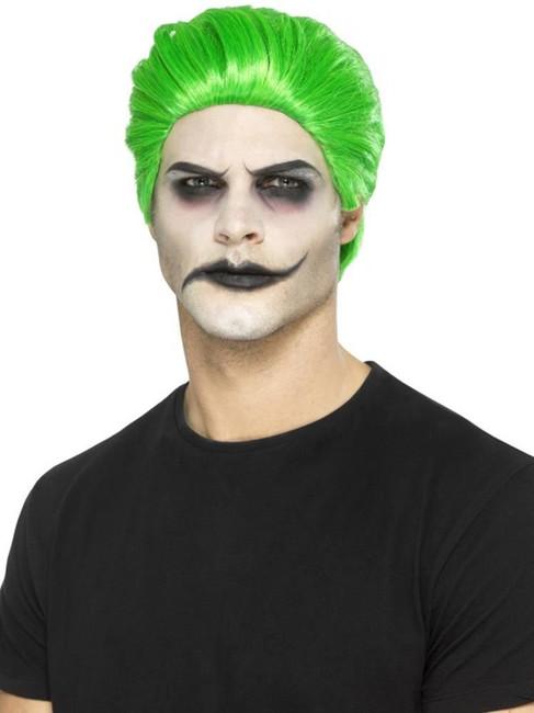 Green Slick Trickster Wig, Halloween Fancy Dress Accessories