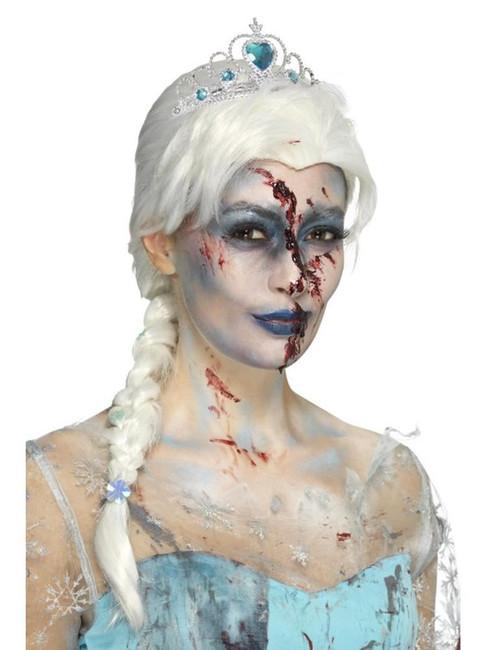 Zombie Froze To Death Wig, Halloween Twisted Fairytale Fancy Dress