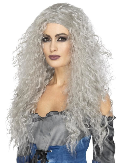 Grey Banshee Wig, Halloween Fancy Dress Accessories