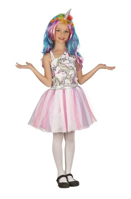 Unicorn Dress, Headpiece + Wig Medium