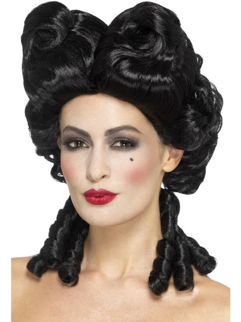 Gothic Baroque Wig, Halloween Carnival of the Damned Fancy Dress