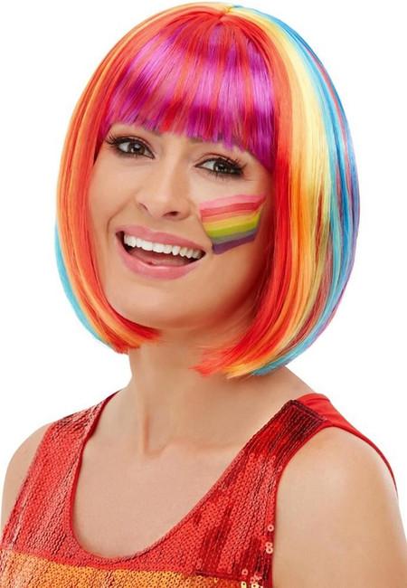 Rainbow Bob Wig, Fancy Dress Party Wig