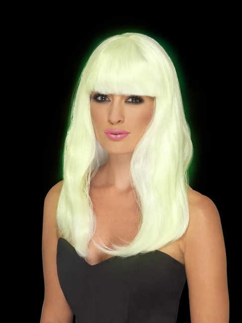 Glam Party Wig, Wigs, GLOW IN THE DARK