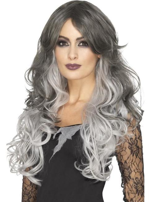 Deluxe Gothic Bride Wig,Heat Resistant/Styleable,Halloween Fancy Dress Prop