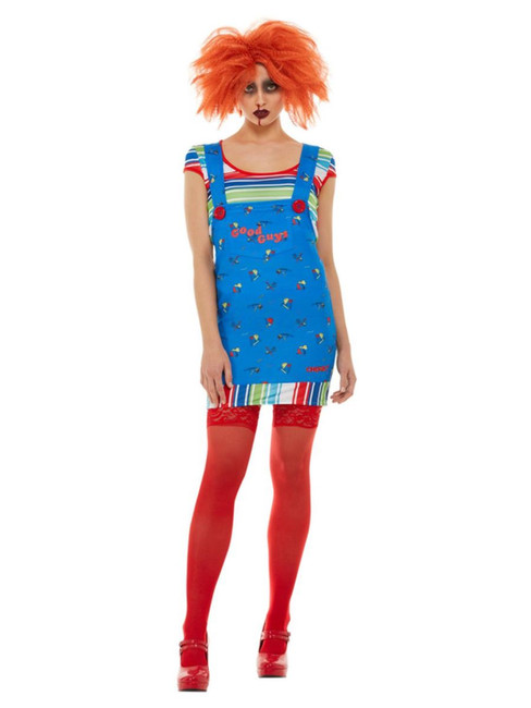 Chucky, Womens Halloween Fancy Dress Costume, Medium UK Size 12-14