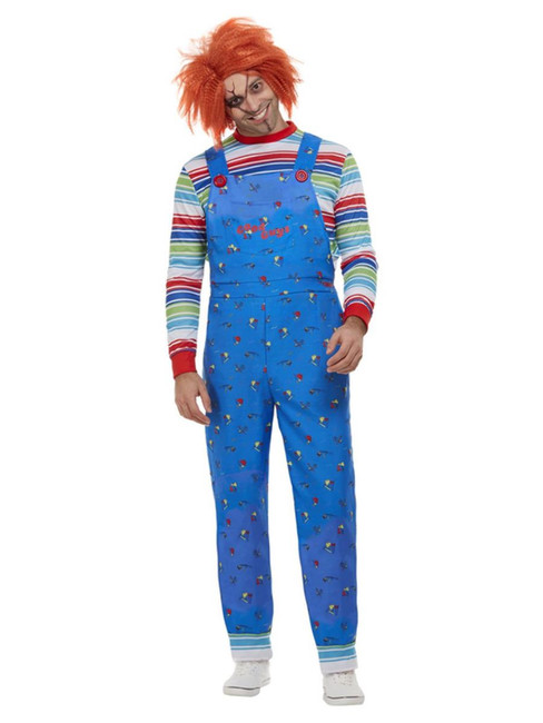 Chucky, Mens Halloween Fancy Dress Costume, Large
