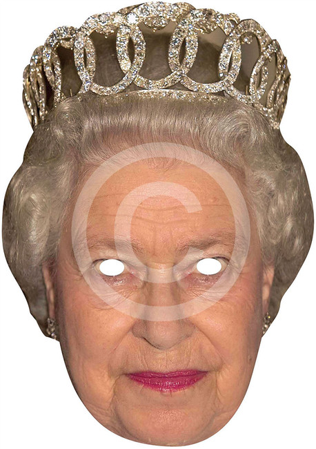H.M Queen Card Face Mask