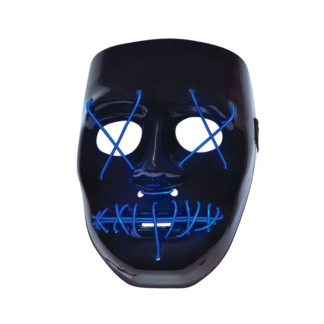 Anarchy, Light Up Face Mask, The Purge, Halloween, Unisex Fancy Dress Mask