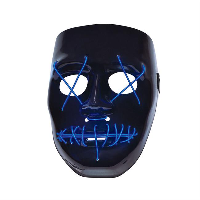 Anarchy, Light Up Face Mask, The Purge, Halloween, Unisex Fancy Dress Mask