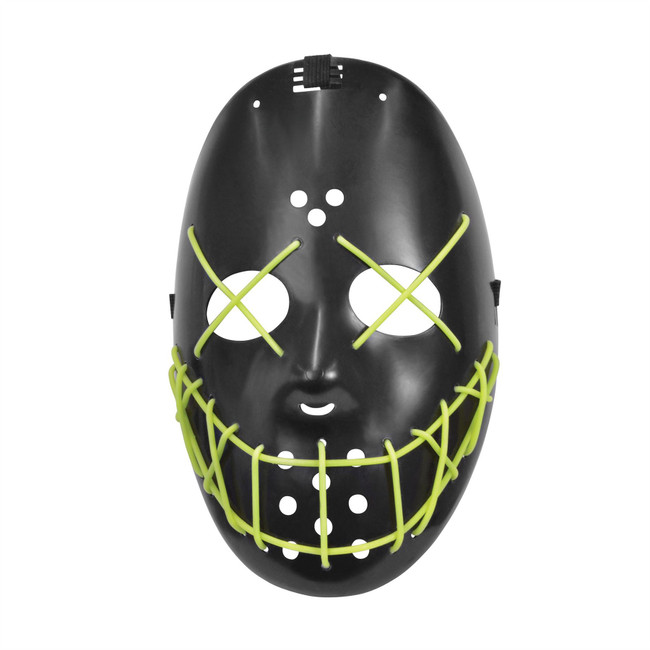 Anarchy, Glow in the Dark Face Mask, The Purge, Halloween,Unisex Fancy Dress