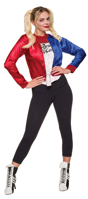 Harley Quinn Kit- Jacket With Shirt Teen, Marvel, Womens Fancy Dress Costume