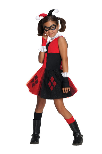 Harley Quinn Tutu Costume - Medium, Suicide Squad, Girls Fancy Dress Costume