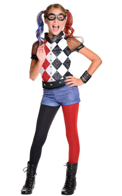 Harley Quinn Deluxe Costume, Fancy Dress, Small, US Size, Childrens
