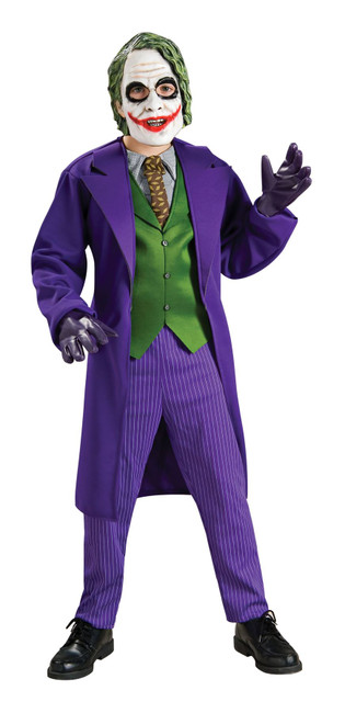 The Joker - Deluxe Costume, Fancy Dress, Small, US Size, Childrens