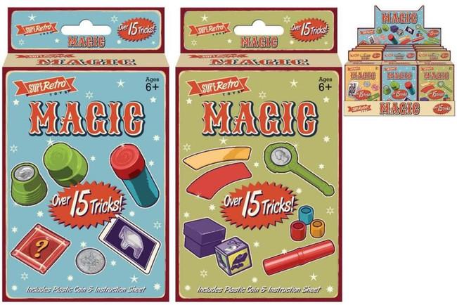 15 MAGIC TRICKS IN HANGING BOX, Game/Toy, Stocking Filler/Gift