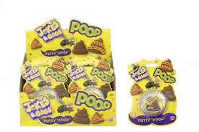 JOKES & GAGS SLIME PUTTY POOP IN A CLEAR CASE, Stocking Filler/Gift