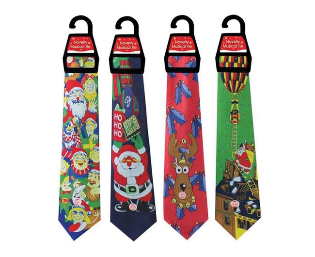 Christmas Musical Tie Assorted Designs, Stocking Filler/Gift