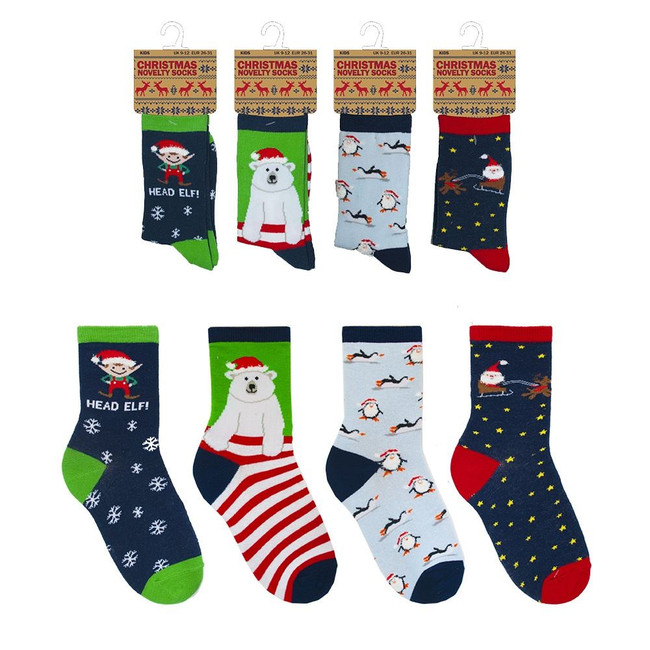 Christmas Kids Novelty Socks, Xmas Stocking Filler/Gift