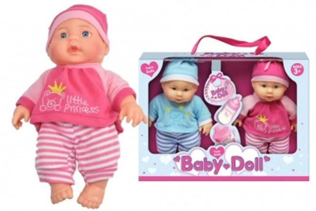 "9"" VINYL TWIN DOLLS BABY DOLLS IN WINDOW BOX, Christmas Stocking Filler/Gift"