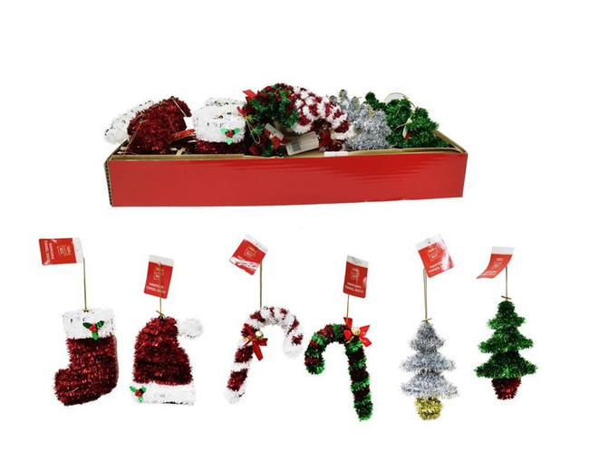 TINSEL HANGING DECORATION, Christmas Decoration