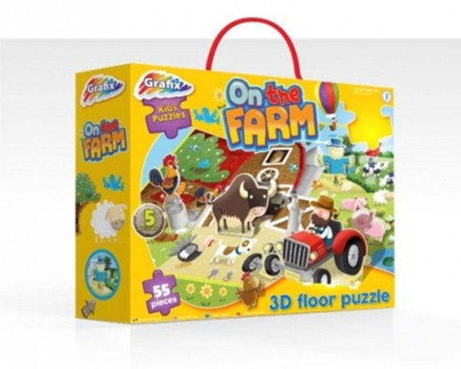ON THE FARM 3D PUZZLE, Game/Toy, Stocking Filler/Gift