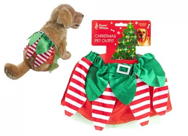 Christmas Pet Elf Skirt Accessory, Stocking Filler/Gift