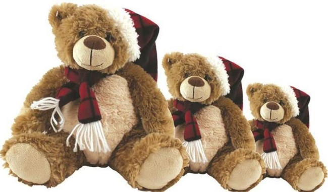 "12"" PLUSH TEDDY BEAR, Christmas Stocking Filler/Gift"