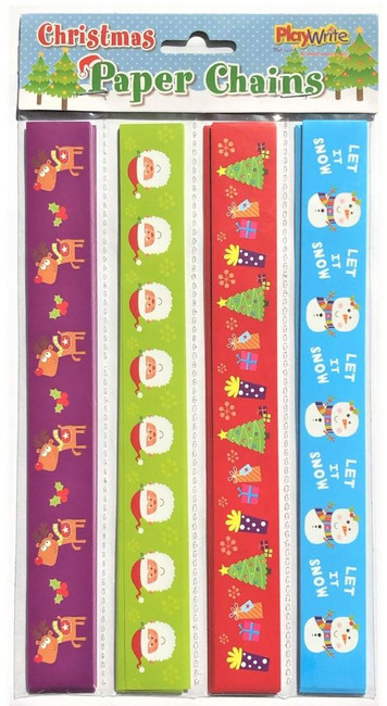 Christmas 100 Pack Paper Chains 27 x 14cm