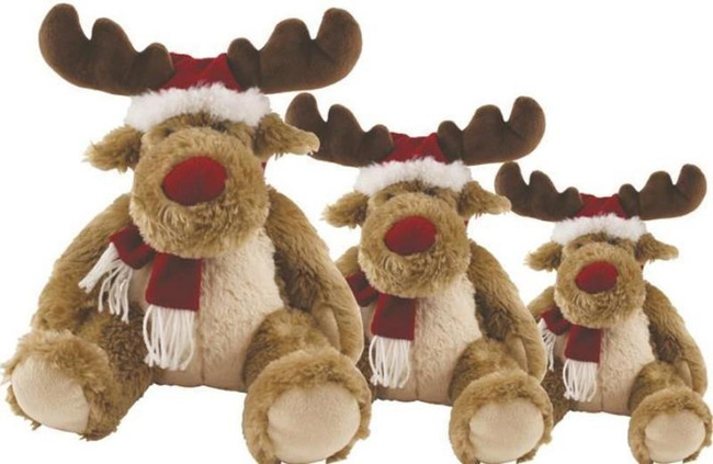 "CHRISTMAS PLUSH REINDEER 12"", Christmas Stocking Filler/Gift"