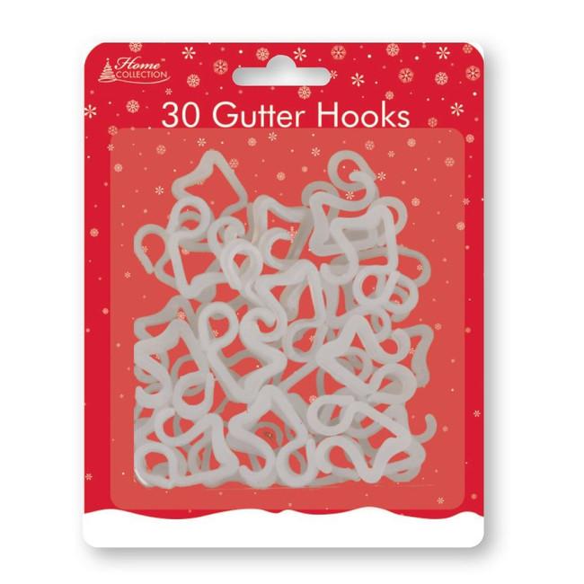 Christmas Pack of 30 Gutter Hooks