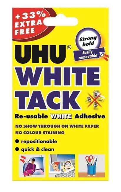 UHU White Tack Handy Pack + 33% Extra Free