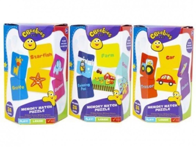 CBEEBIES EDUCATIONAL MATCH PUZZLE, Christmas Stocking Filler/Gift