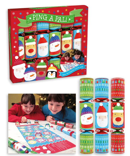 """Christmas Ping A Pal Game Crackers 6 x 9"""""""