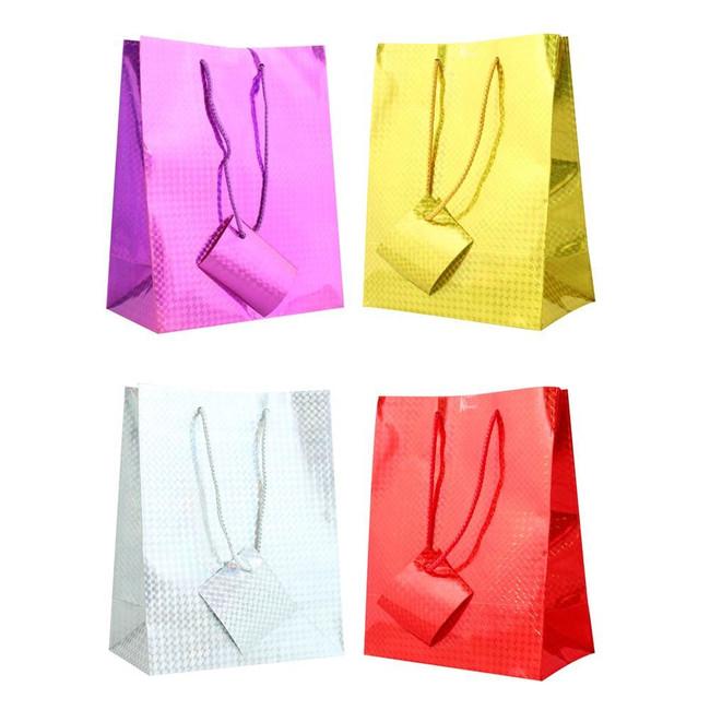 Holographic Gift Bag Large 33cm x 26cm, 1 per sale, Stocking Filler/Gift