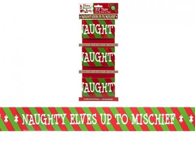 Christmas Elf Pack of 3 Elf Design Printed Tape 3 Yards x 8cm