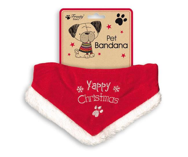 Christmas Novelty Pet Bandana 'Yappy Christmas', Stocking Filler/Gift