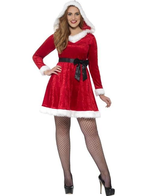 Curves Miss Santa Costume, XXL, Christmas Fancy Dress, Womens, UK 24-26