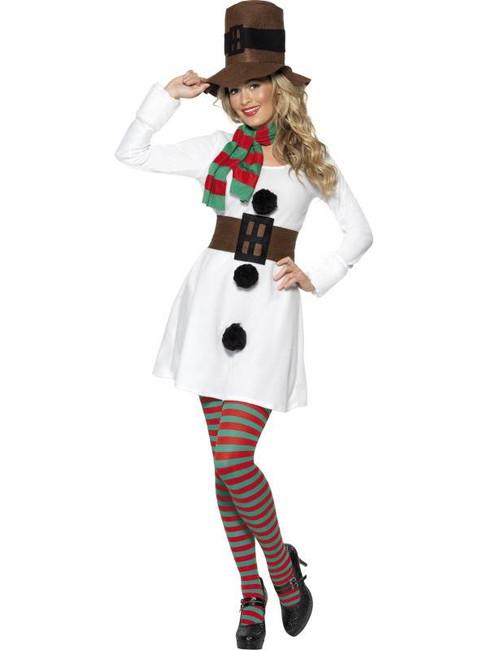 Miss Snowman Costume, UK Dress 16-18