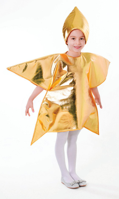 Gold Star, Childrens Fancy Dress Costume, UNISEX