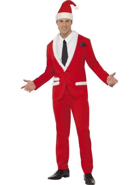 "Santa Cool Costume, Chest 42""-44"", Leg Inseam 33"""