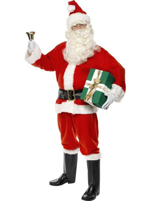 "Santa Costume, Adult, Chest 42""-44"", Leg Inseam 33"""