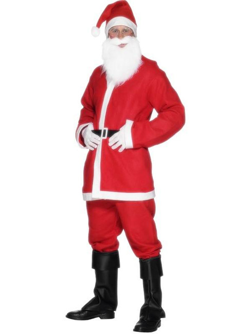 "Santa Suit Costume - Men's, Chest 42""-44"", Leg Inseam 33"""