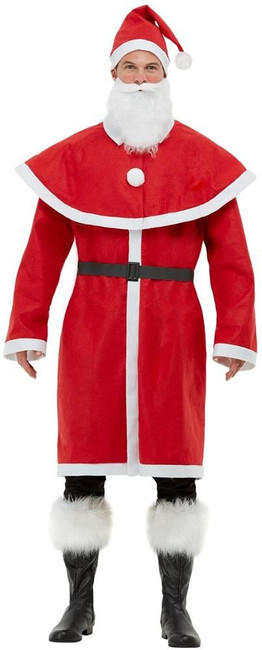 Father Christmas Santa Costume, Mens Fancy Dress, XL